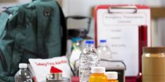 Image of items in an emergency kit