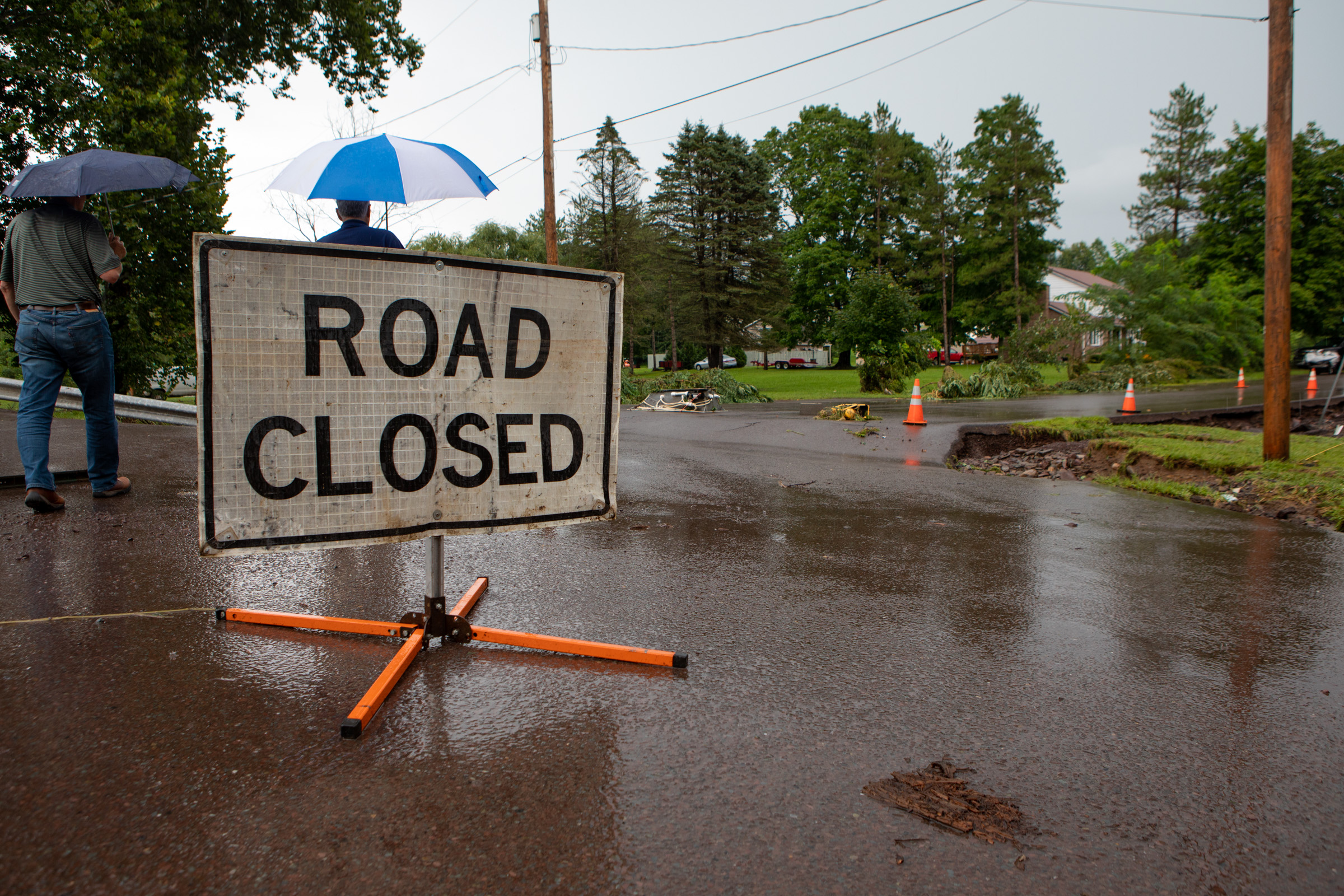 Road Closed Due To Flood Damage