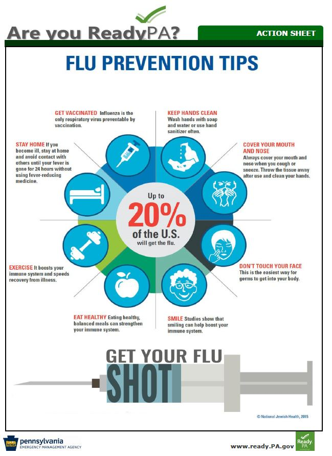 Flu prevention tips fact sheet