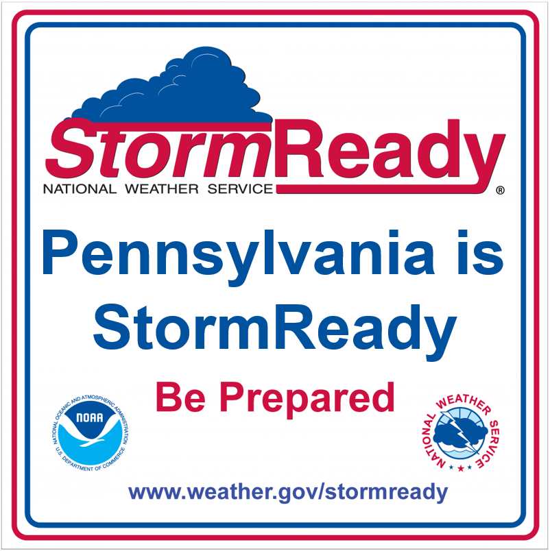 Pennsylvania is StormReady square graphic